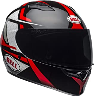 Bell Qualifier Full-Face Motorcycle Helmet (Flare Gloss Black/Red, X-Large)
