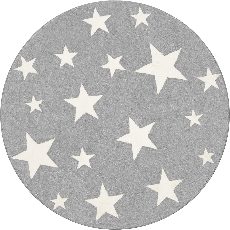 Topotdor Star Round Kids おトク Rug Starry Sky Stars Area Dura 売り込み Soft