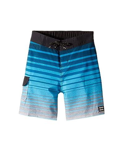 Billabong Kids All Day Stripe Pro Boardshorts (Toddler/Little Kids) (Blue) Boy