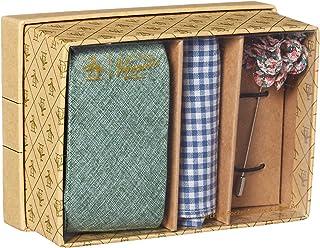 Original Penguin 男式 3 件套纯色领带,口袋方形和翻领别针盒,*,均码