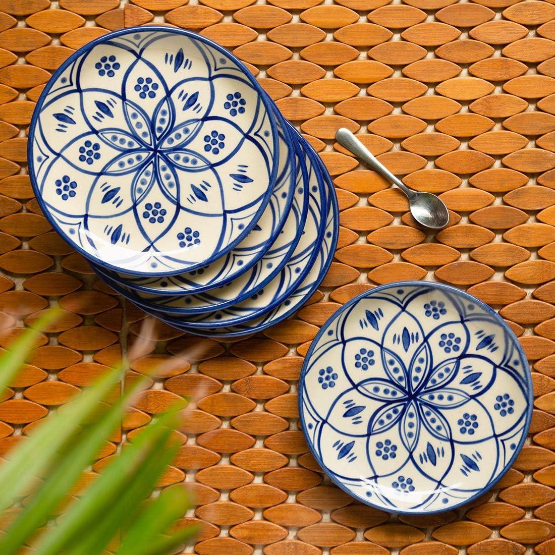 定番スタイル 激安超特価 ExclusiveLane 'Moroccan Floral' Handpainted Studio Ceram Pottery