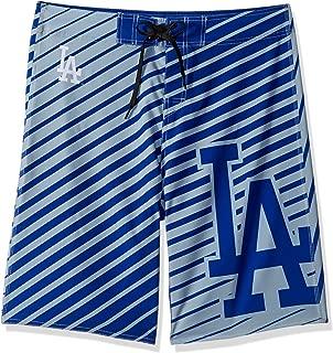 FOCO MLB Men's Stripes Poly Board Shorts