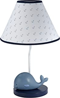 Nautica Kids Brody Nautical/Whale Lamp Base and Shade, Blue/Light Blue/White
