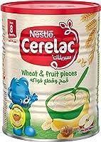 حبوب القمح وقطع الفواكه للاطفال الرضع من نستله سيريلاك، عبوة قصدير 400 جرام