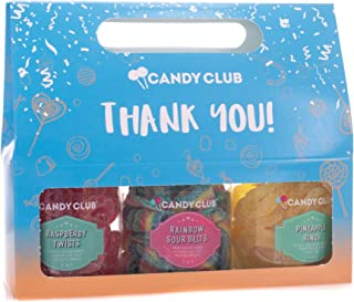 Thank You Blue 18 ounce Raspberry Twists Rainbow Sour Pineapple Candy Assortment