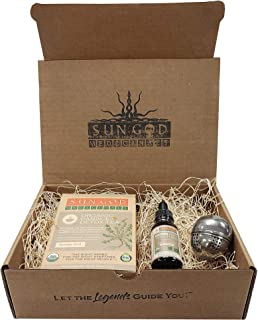 Panacea Detox Organic Herbal Gift Box - Tea + Tincture + Strainer | Oregon organic herbs, small-batch, family owned company