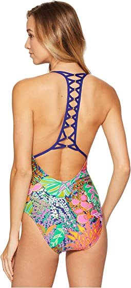 Trina Turk - Tropic Escape V-Plunge One-Piece