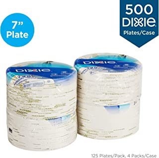 "Dixie 6 7/8"" (17.4 cm) Medium-Weight Paper Plates by GP PRO (Georgia-Pacific),.."