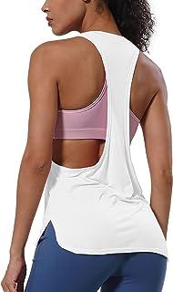 BUBBLELIME Tank Tops for Women Modal Yoga Workout Racerback Top Activewear Super Soft