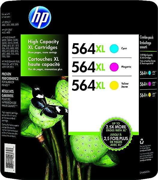 HP 564XL 高产原装墨盒照片纸青色品红色黄色
