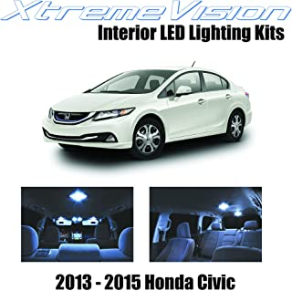 XtremeVision Interior LED for Honda Civic 2013-2015 (6 Pieces) Cool White Interior LED Kit + Installation Tool