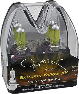 Optilux Hella H71070602 XY Series HB4 9006 Xenon Yellow Halogen Bulbs, 12V, 55W, 2 Pack