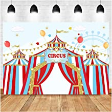 7x10 FT Vinyl Photography Background Backdrops,A Circus Sign Baroque Style Big Top Enjoyment Theme Marquee Nightlife Retro Background for Child Baby Shower Photo Studio Prop Photobooth Photoshoot