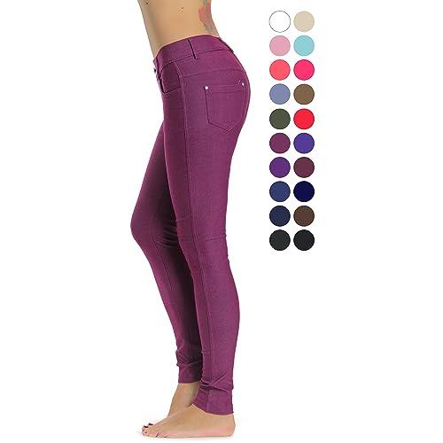 b767ed7da9a97 Prolific Health Women's Jean Look Jeggings Tights Slimming Many Colors  Spandex Leggings Pants Capri S-