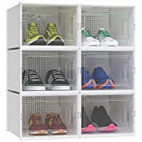 Deals on Yitahome Large Size Shoe Box, Set of 6