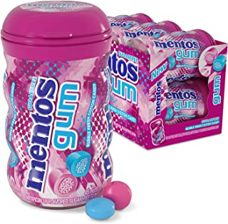 Mentos Sugar-Free Chewing Gum with Xylitol, Bubble Fresh Cotton Candy, Halloween Candy, Bulk, 45 Piece Bottle (Pack of 6)