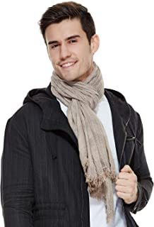 Mens Scarf Fashion Scarves Crinkle Shawl Winter Best Gift The Twins Dream