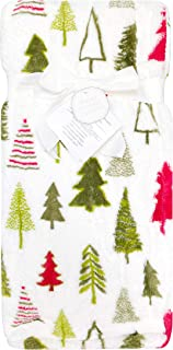 Thro Pine Trees Loft Fleece Baby Throw Blanket, 30 inches x 40 inches