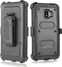 Compatible for Galaxy J2 core Case,Galaxy J2 Dash/J2 Pure/J260 case, w/Built-in [Screen Protector] Heavy Duty Full-Body Armor Case [Belt Clip Holster][Kickstand] (Black)
