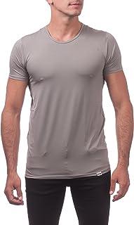 Pro Club Men`s Performance Compression Short Sleeve T-Shirt, Gray, Small
