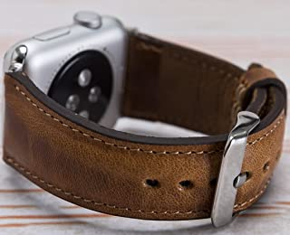 Apple Watch Brown Band 4mm, 42mm, 40mm, 38mm, iWatch Strap, Man or Women, Genuine Leather Apple Watch Strap, High Quality, Engraving Avaliable, HANDMADE, READY to SHIP, EXPRESS SHIPPING