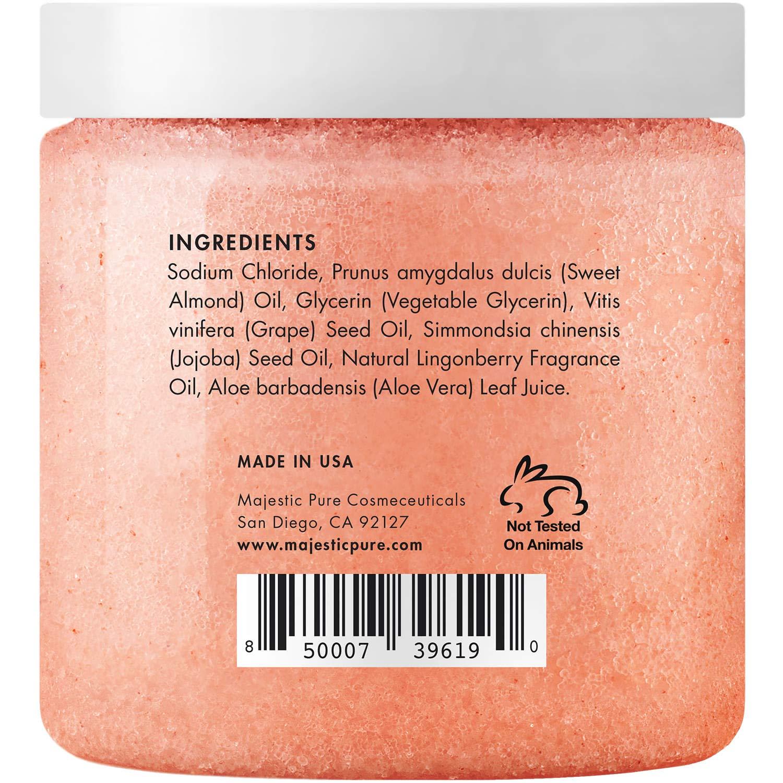 Himalayan Salt Body Scrub with Lingonberry, Exfoliating Salt Scrub to Exfoliate & Moisturize Skin, Deep Cleansing for Women and Men - 10 oz