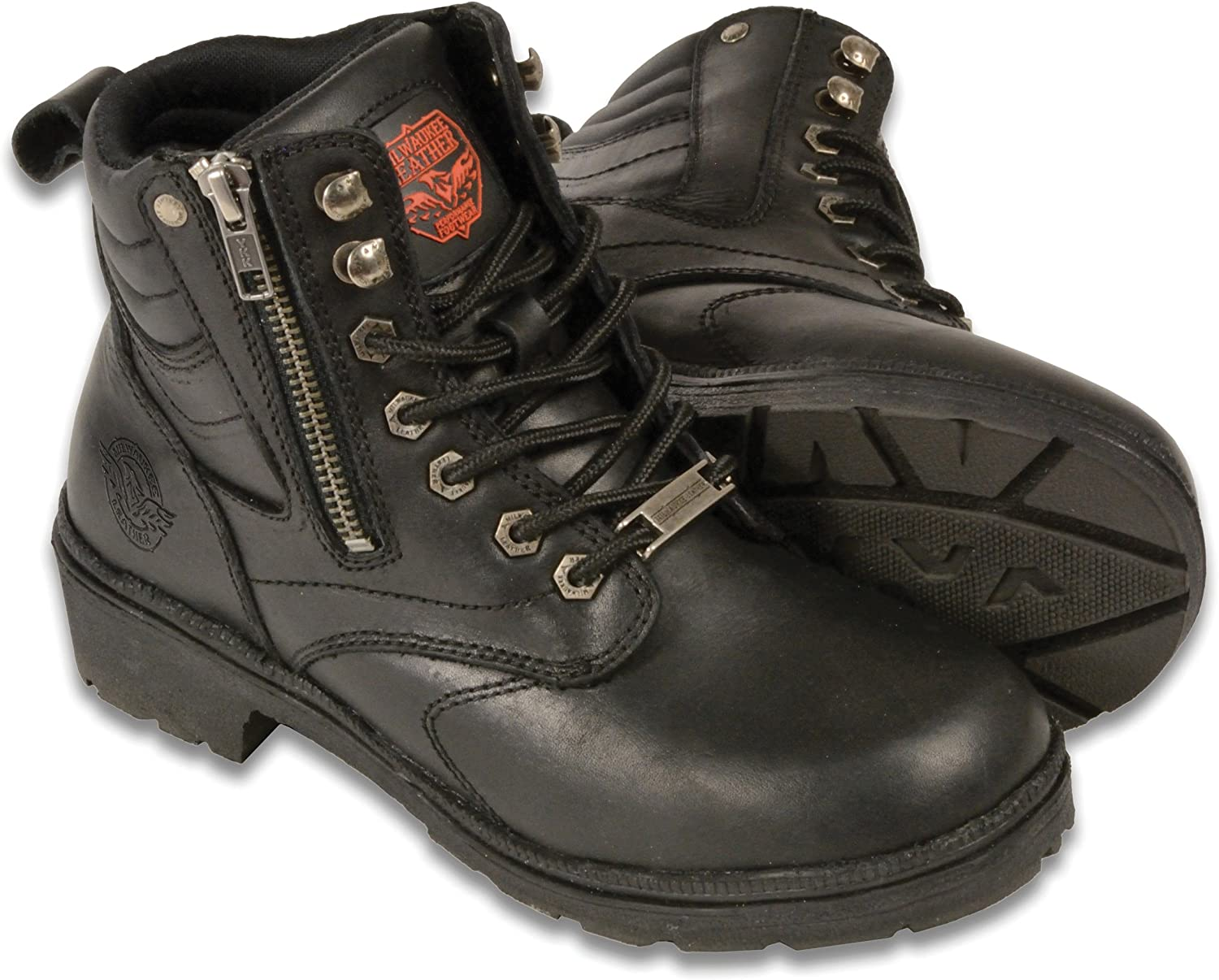 Milwaukee Leather Women's Super popular specialty store Motorcycle Size Portland Mall 9 Boot Black