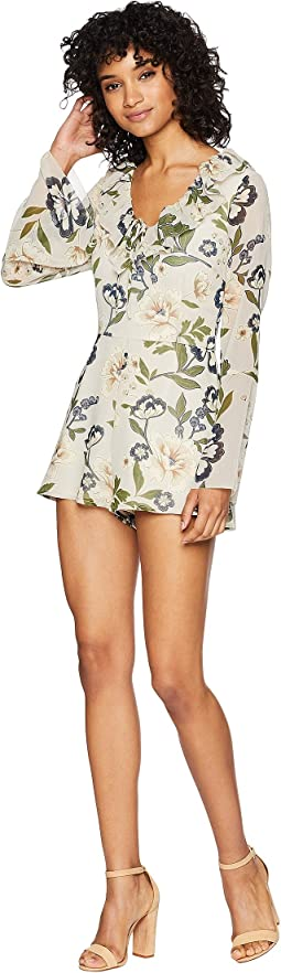 No Ordinary Love Floral Print Romper