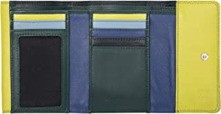 Womens wallet purses leather multi credit card with double flap DUDU