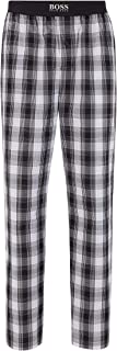 BOSS Mens Urban Pants Checked Pyjama Trousers in Cotton poplin