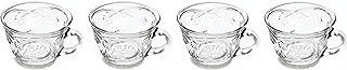 Anchor Hocking Savannah Coffee Tea Punch Bowl Cups ~ Set of 4 ~ Clear
