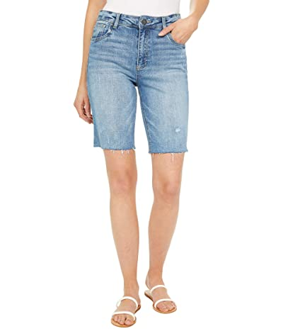 KUT from the Kloth Sophie High-Rise Bermuda Shorts Five-Pockets Raw Hem Women