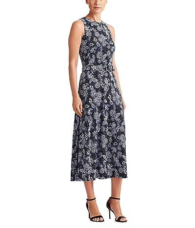 LAUREN Ralph Lauren Farrah Sleeveless Day Dress (Lighthouse Navy/Blue/Colonial Cream) Women