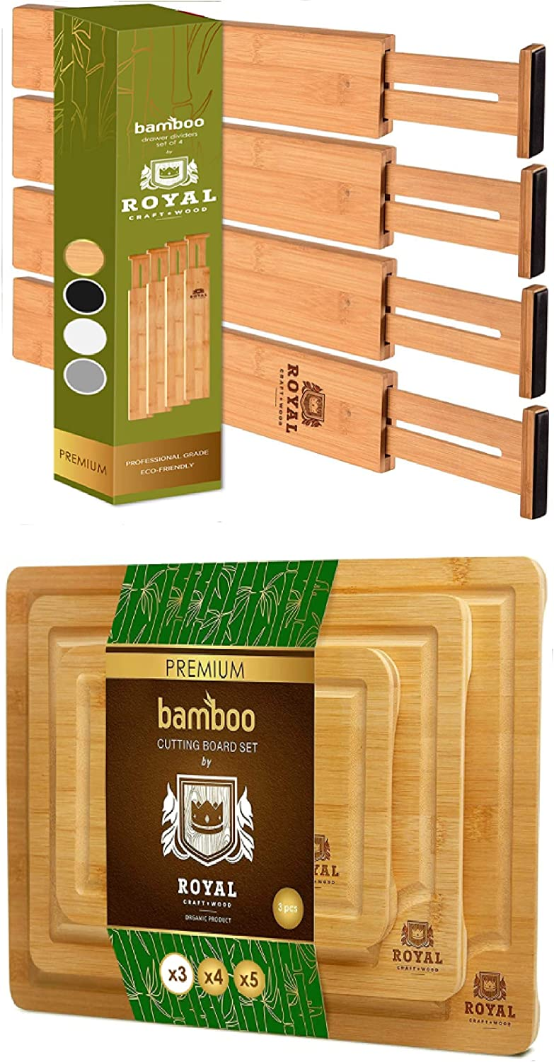 Adjustable Bamboo Drawer Dividers Organizers 22IN Indefinitely and Cutting Bo Manufacturer direct delivery