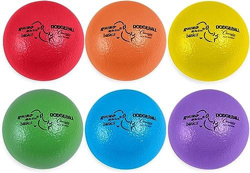 Champion Sports Rhino Skin Basic Dodgeball, Set mit Mesh Aufbewahrungstasche