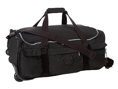 Kipling Discover Small Wheeled Luggage Duffle (Black) Duffel Bags