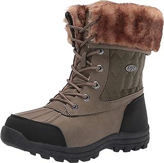 Lugz Women's Tambora Quilted Classic 6-inch Chukka Fashion Boot Combat, Olive Drab/Tan/Black, 8