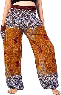c6cca266217 Lofbaz Mujer Harem Hippy Pantaloni Cintura elástica bonzaai Pantalones