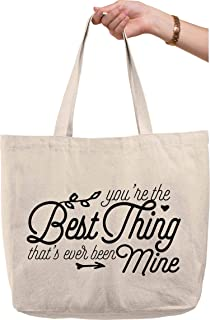 You're the Best Thing That's Ever Been Mine Taylor Swift Love Natural Canvas Tote Bag funny gift