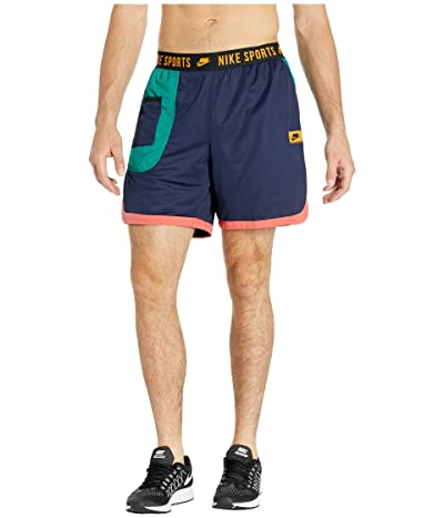 Nike Dry Shorts (Blackened Blue/Mystic Green/Kumquat) Men