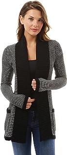 PattyBoutik Women's Open Front Marled Sweater Cardigan