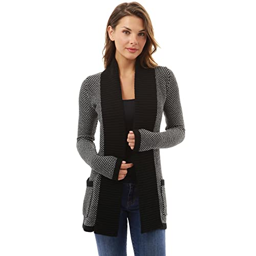 PattyBoutik Women Open Front Marled Sweater Cardigan 4af198c4c