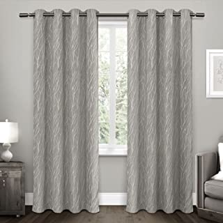 """Exclusive Home Curtains Forest Hill Panel Pair, 96"""" Length, Ash Grey, 2 Piece"""