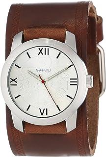 [ネメシス] Nemesis 腕時計 Men's Elite Collection Silver Roman Numeral Leather Band Watch クォーツ BHST068S メンズ 【並行輸入品】