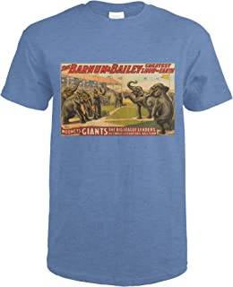 Barnum and Bailey - Mononey's Giants Vintage Poster USA c. 1913 62897 (Heather Royal T-Shirt XX-Large)