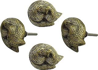 Set of 4 Antique Sleeping Fox Iron Artistic Designer Drawer Knobs/Cabinet Pulls