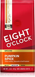 Eight O'Clock Ground Coffee, Pumpkin Spice, 11 Ounce (Pack of 1)