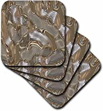 3dRose Print of Liquid Gold and Silver Melt - Ceramic Tile Coasters, Set of 4 (CST_205016_3)