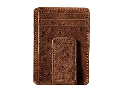 M&F Western Vintage Ostrich Money Clip (Brown) Wallet Handbags