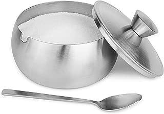 Miliner Home Sugar Bowl with Lid and Spoon, Sleek Matte Design, 14.5 oz